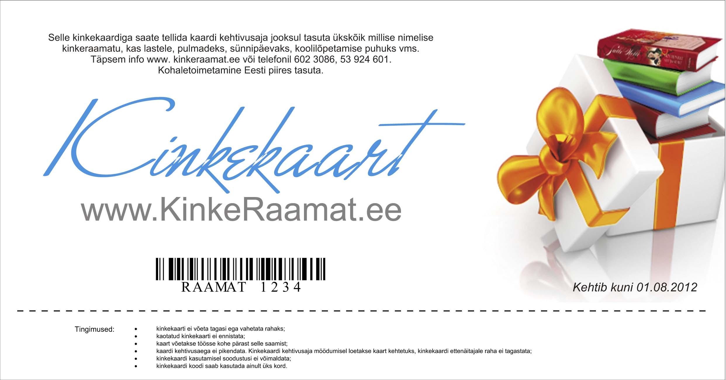 f403b09ac88 Kinkekaart – Kinkeraamat.ee
